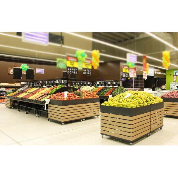 expositores de frutas e legumes